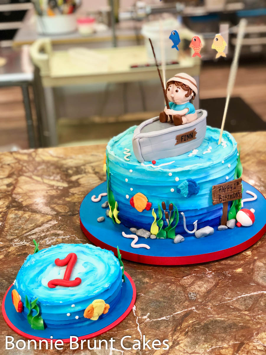 Magnificent Fisherman Cake Cake Of The Week Wedding Cakes Grooms Cakes Funny Birthday Cards Online Elaedamsfinfo