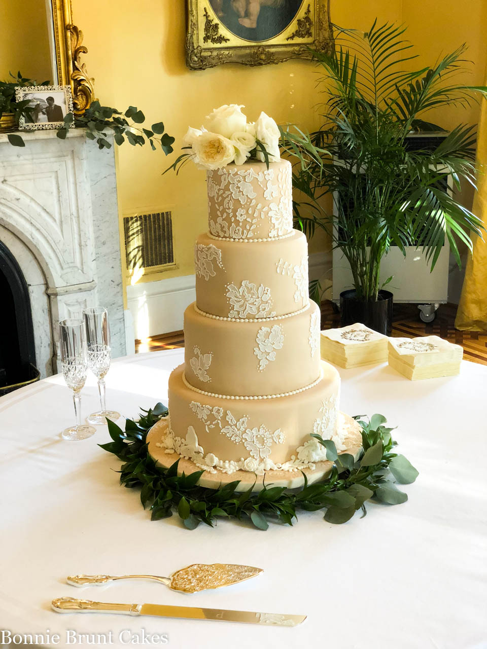 Wedding Cake At The Lace House - Cake of the Week