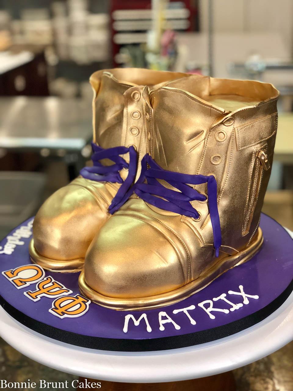 Miraculous Stompin Boots Cake Of The Week Wedding Cakes Grooms Cakes Funny Birthday Cards Online Elaedamsfinfo