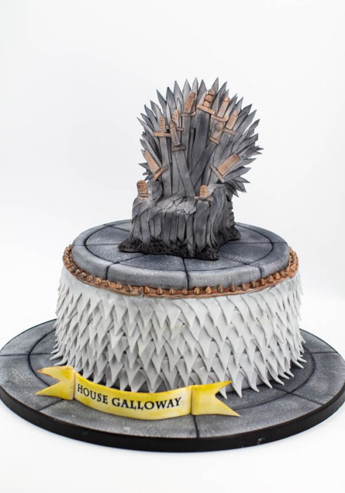 Game of Thrones Sculpted Iron Throne Grooms Cake