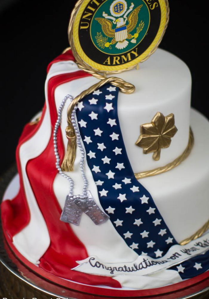 United States Army Grooms Cake