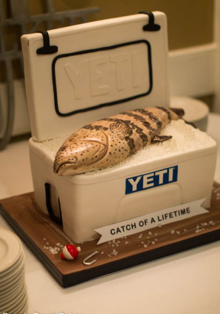 Catch of a Lifetime Sculpted Cooler Grooms Cake